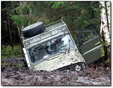 Off Road Vehicle in Mud