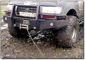 Winching 4WD Out of Mud