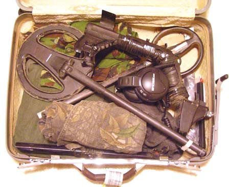 Detector, Accessories, and Gear Packed