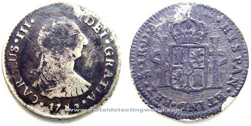 1781 1 Real Silver Coin, Carolus III, Portrait Type