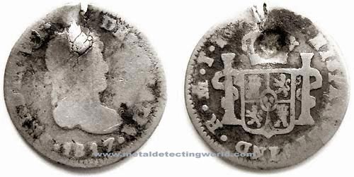 1817 1 Real Silver Coin, Ferdinand VII Spain