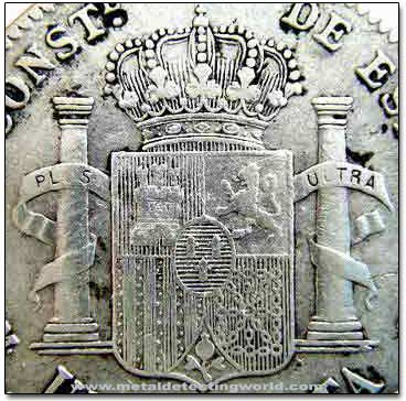 Spain Coat of Arms on Silver Real Coin