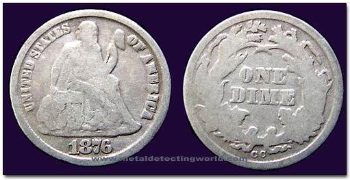 Liberty Seated Dime Variety 4