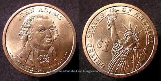 American Dollar Coin John Adams American Eagle Silver Dollar