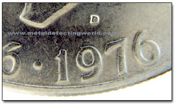Mint Mark Location on Eisenhower Dollar