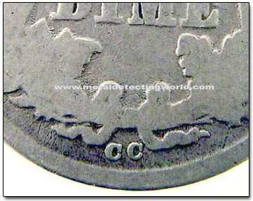 Mint Mark Location on Liberty Seated Dime