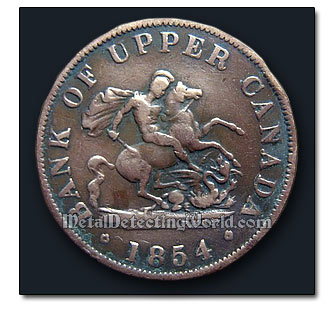 Bank of Upper Canada Token 1854