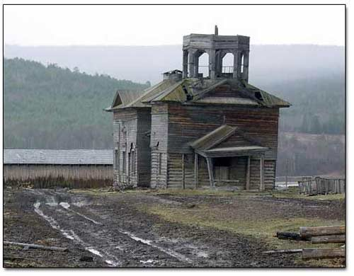 Remains of Russian Orthodox Wood Church, circa 18th Century