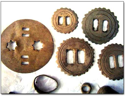 Brass Harness Rosettes Found with a Metal Detector