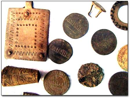 Coins and Relics Found with a Metal Detector
