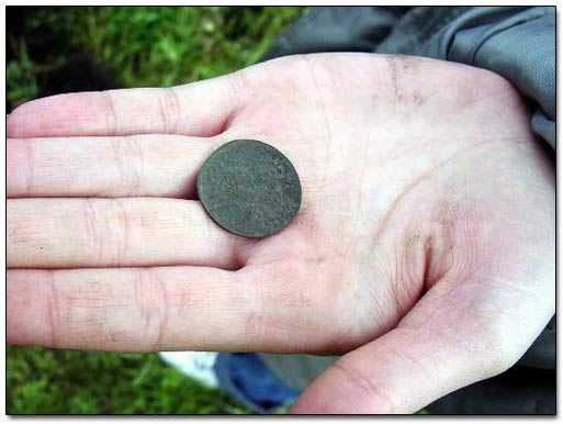 An Old Copper Coin Recovered