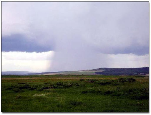 Downpour Over the Hills