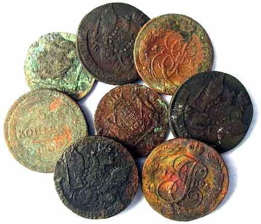 Group of the 18th Century Russian Coins