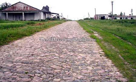 Cobbled Road in Ghost Town