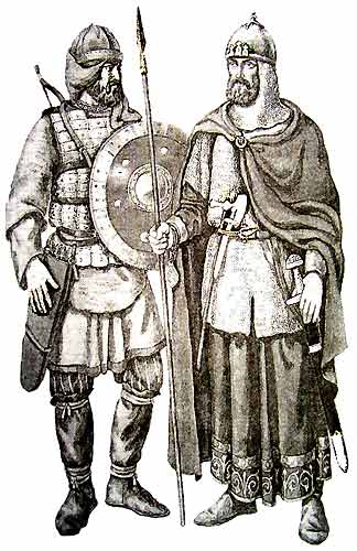 Outfits of Early Russian Soldiers, ca. 11th Century