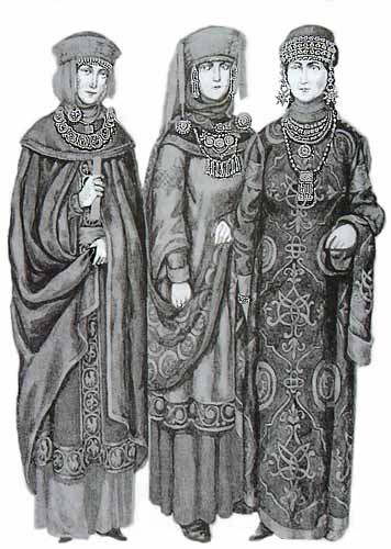 Outfits of Medieval Russian Women, ca. 11th Century