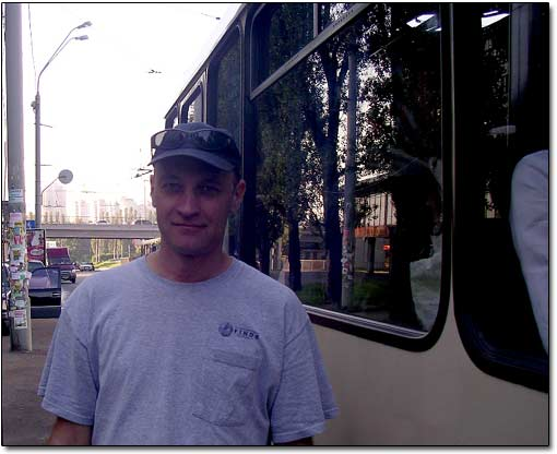 Sergei Before Boarding the Bus