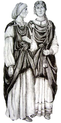 Female's Outfits of 11th Century