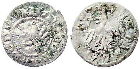 Silver 1386 Half Grosz of Lvov