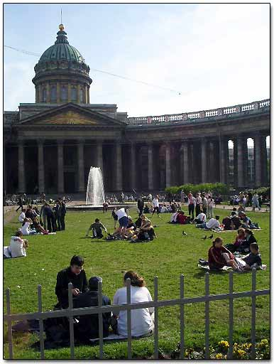 Kazan Cathedral in St. Petersburg, Russia