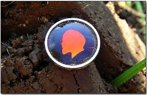 Pin Depicting A Lenin's Profile