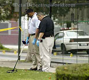 Police Crime Scene Unit Metal Detecting