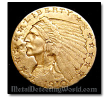 US 1910 Gold 2.5 Dollars Coin