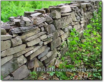 Stone Wall in the Woods, Ulster County, New York