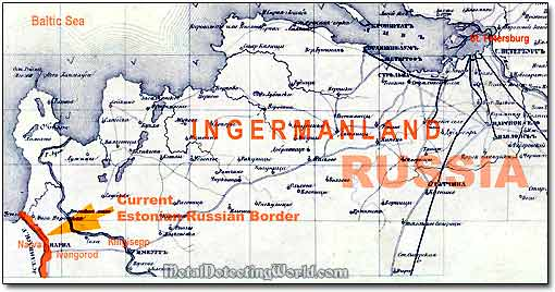 A Fragment Of 1868 Map - Ingermanland Ingria