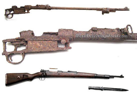 Remains Of WW2 K98 Mauser Rifle