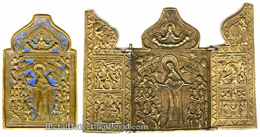 Bronze Enameled Travel Icons Old Believers