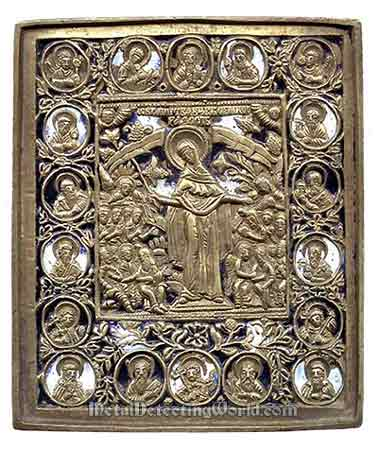 Mother Of God - Joy Of All Mournful People Pectoral Icon