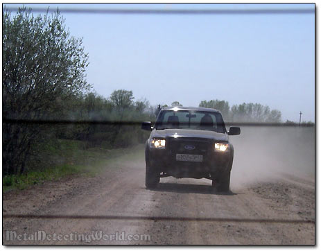 Misha Following in His Ford Ranger