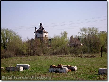 Passing by a Village with Monastery