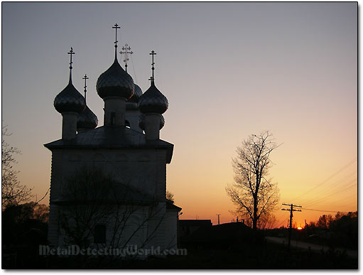 Russian Church and Sunset