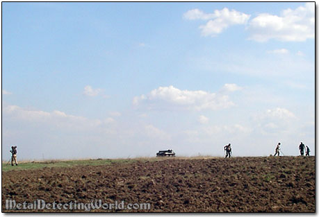 Treasure Hunting in Freshly Plowed Field