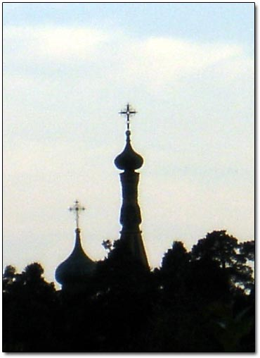 Old Russian Church Silhouette