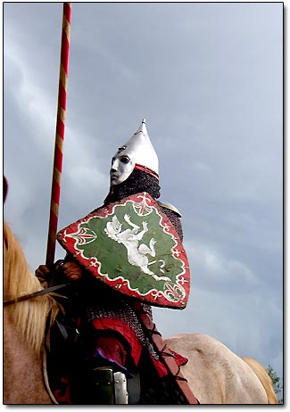 Medieval Russian Fighter on Horse