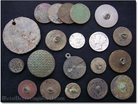 All Coin and Button Finds