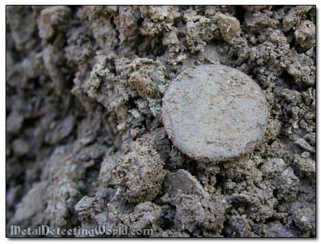 Plain Coat Button Dug Out