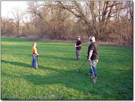 Metal Detecting the Field