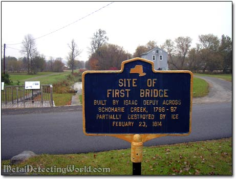 Site of First Bridge Historical Plaque