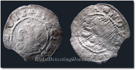 Swedish 1609 1 Ore Silver Coin, King Karl XI