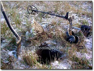Detecting with Minelab E-Trac in Snow