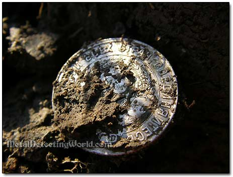 Silver Coin Dug Up