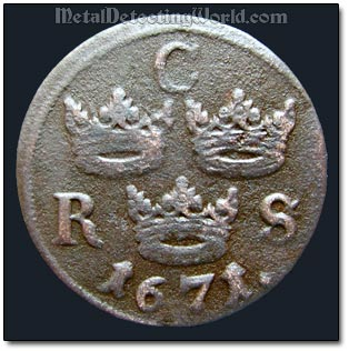 1671 sixth ore, Swedish King Karl XI