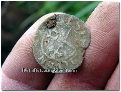 Swedish Silver Hammered Coin, ca. Early 17th Century