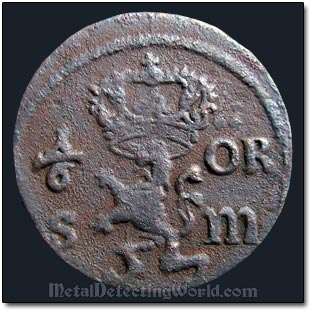17th Century Swedish Copper Coin Koppermynt Was Found