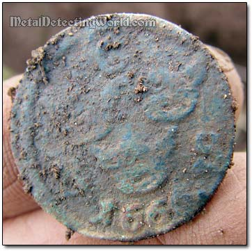 Swedish 1666 1/6 Ore Coin Unearthed