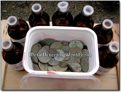 Enough Ammonia Solution for Coin Soaking